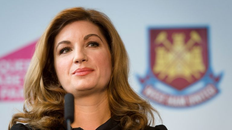 Baroness Karren Brady says principles 'didn't square' with Sir Philip Green claims