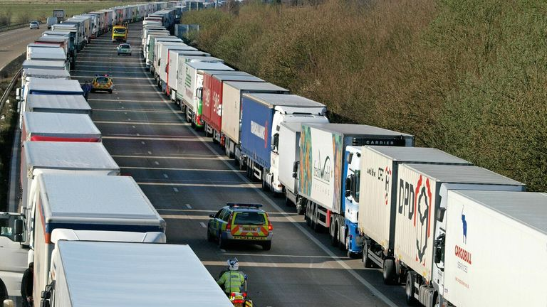 Michael Gove letter warns of 'queues of 7,000' trucks after Brexit transition period ends