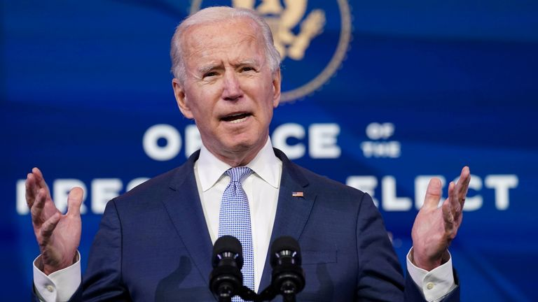 'No time to waste': Biden unveils $1.9trn plan to help US fight coronavirus