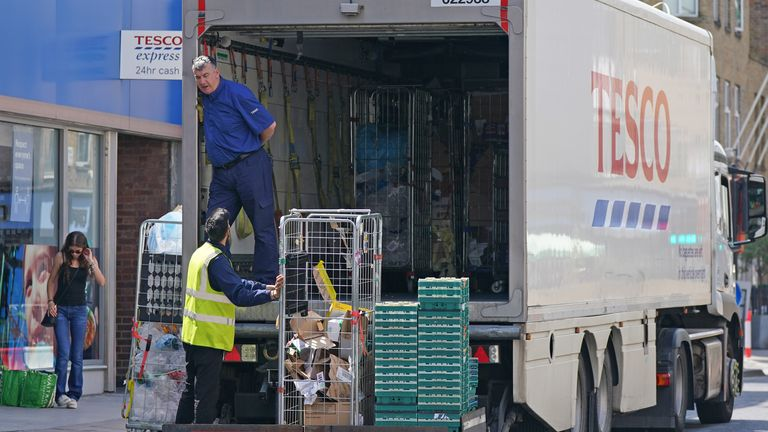 Tesco warns Xmas panic buying 'could be worse than COVID stockpiling' due to HGV crisis - reports